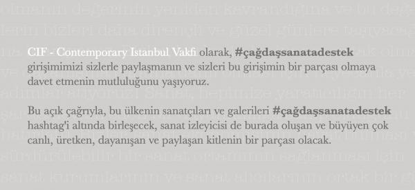 #cagdassanatadestek